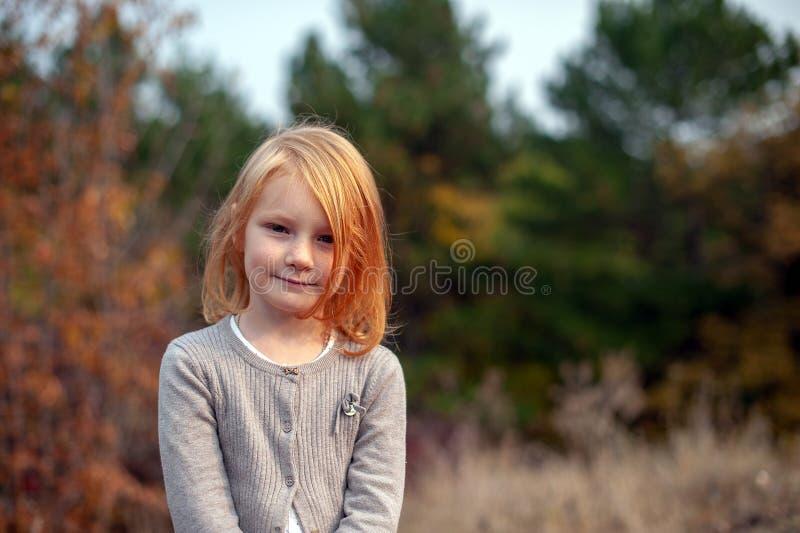 Retrato de uma menina com sardas fotos de stock royalty free