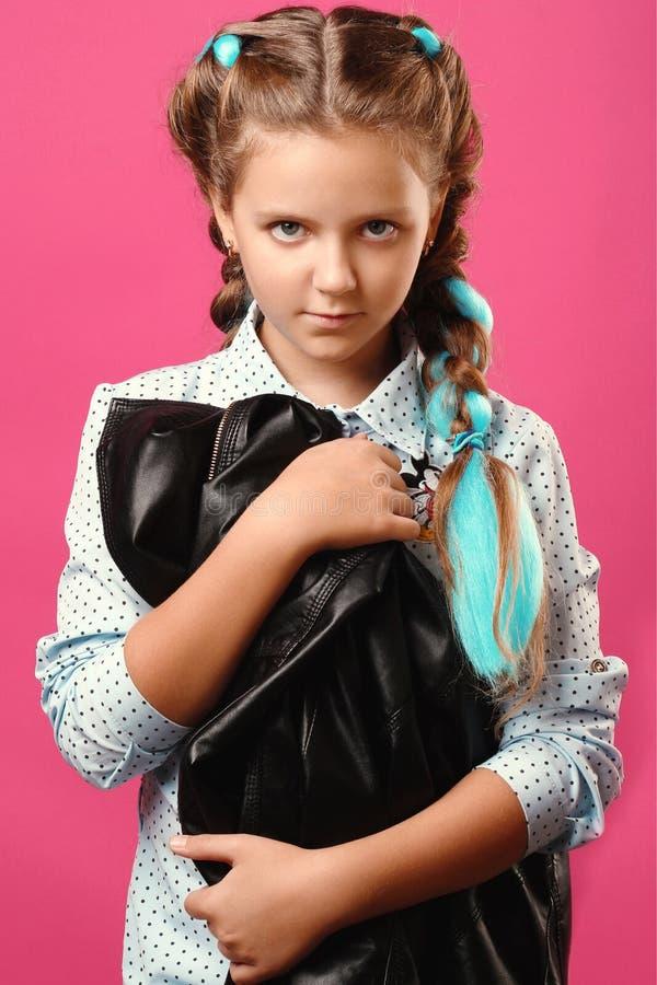 Retrato de uma menina emocional imagem de stock royalty free