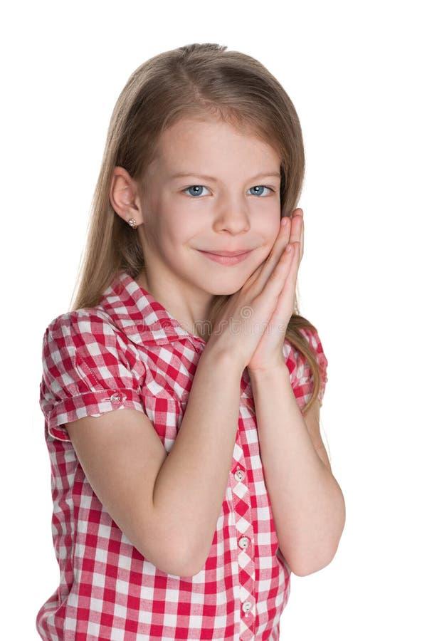 Retrato de uma menina encantadora fotografia de stock