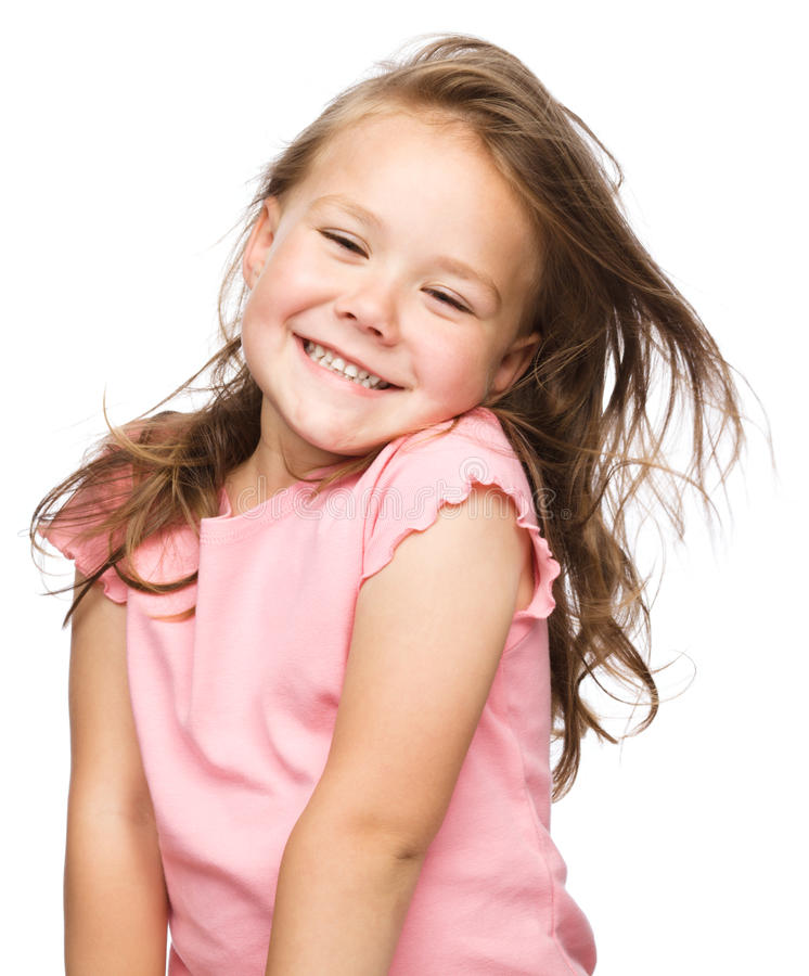 Retrato de uma menina feliz fotografia de stock