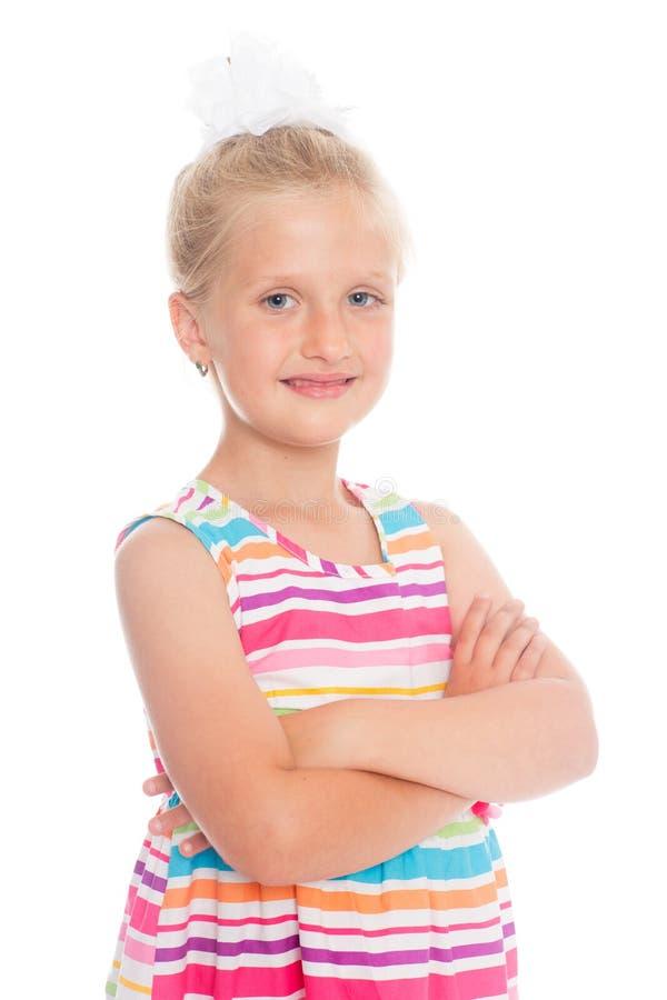 Retrato de uma menina loura bonita imagens de stock royalty free
