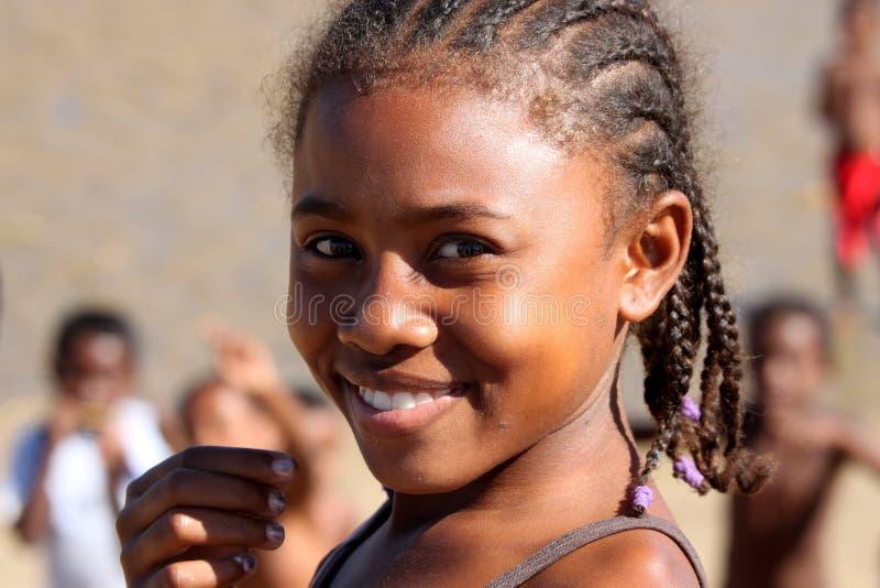 Retrato de uma menina malgaxe imagens de stock royalty free