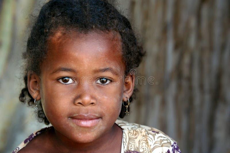 Retrato de uma menina malgaxe fotografia de stock
