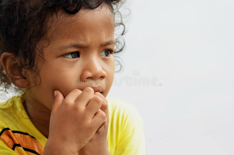 Retrato de uma menina pequena fotos de stock