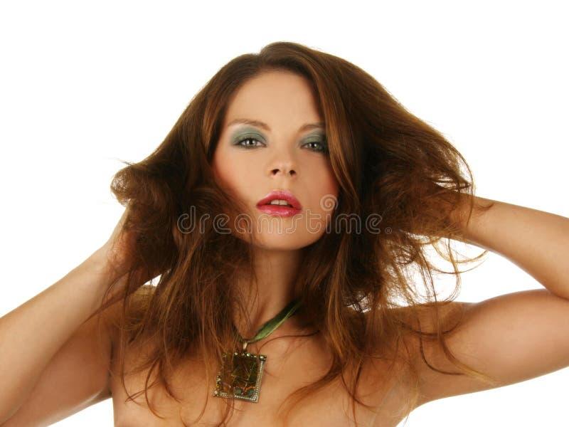 Retrato de uma menina 'sexy' bonita. imagens de stock