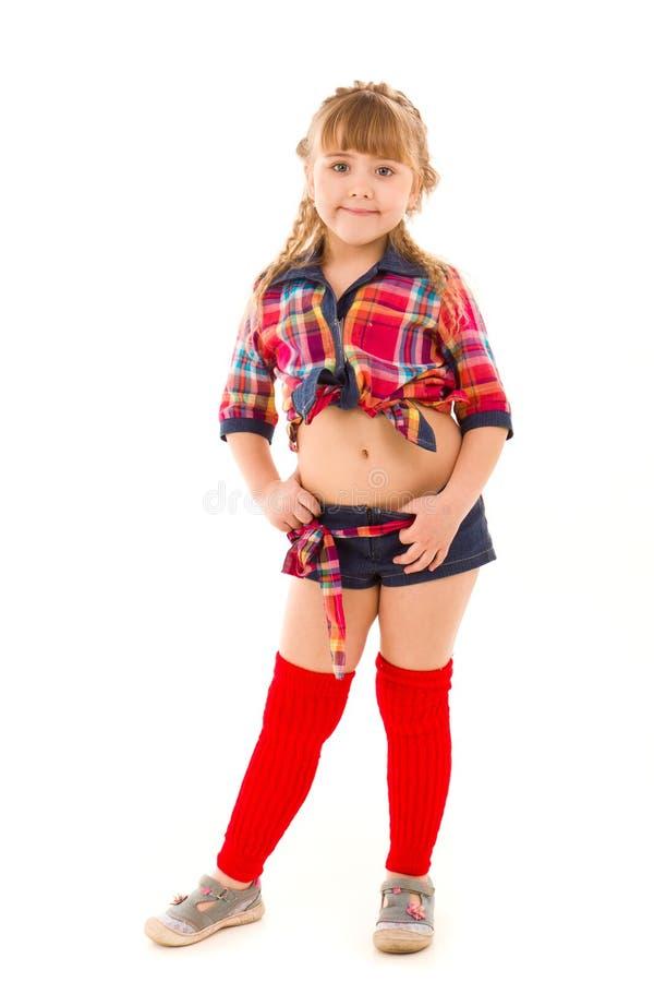 Retrato de uma menina sportive bonita fotos de stock royalty free