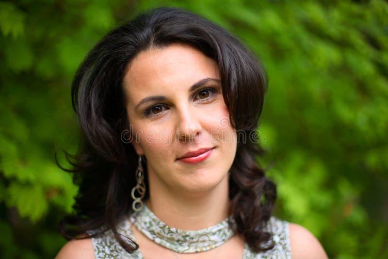 Retrato de uma mulher fotos de stock royalty free
