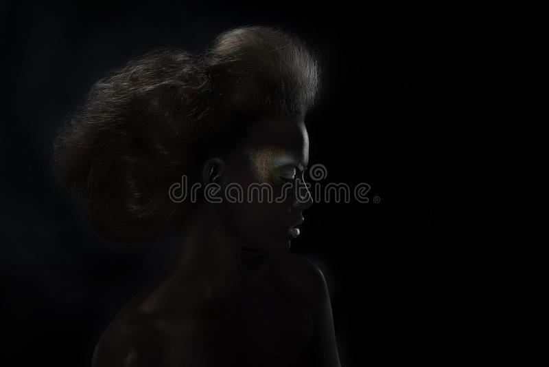 Retrato de uma mulher imagens de stock