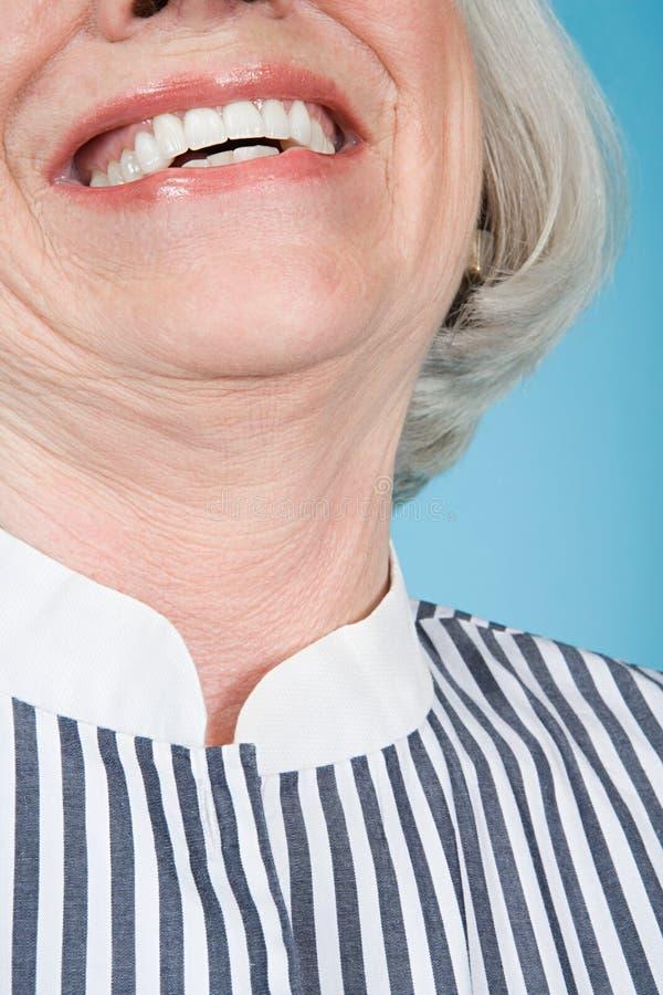 Retrato de uma mulher adulta superior imagens de stock royalty free