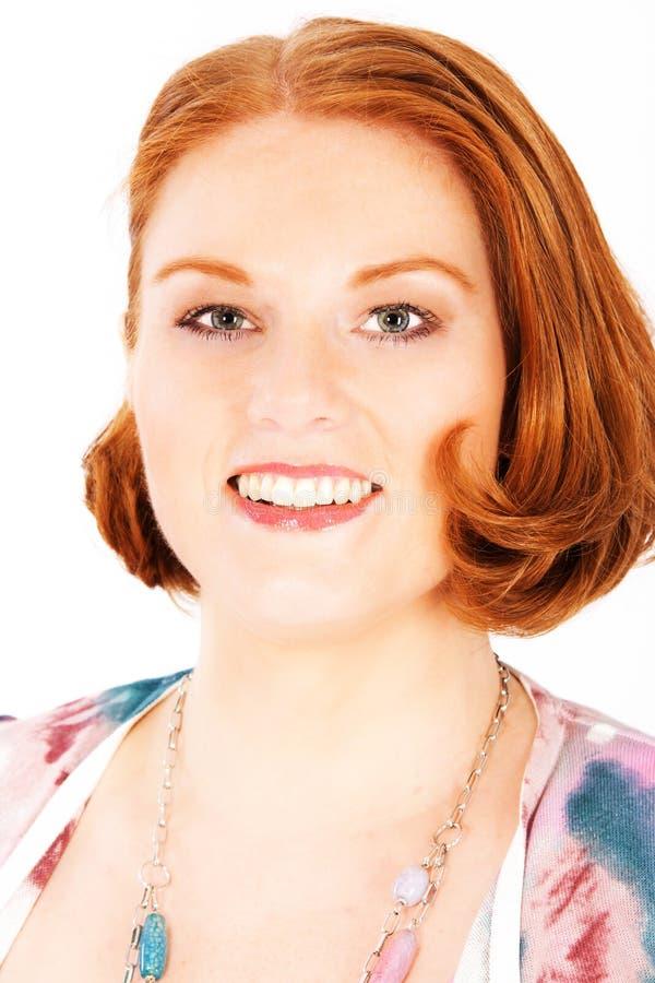 Retrato de uma mulher avermelhado-loura fotografia de stock royalty free