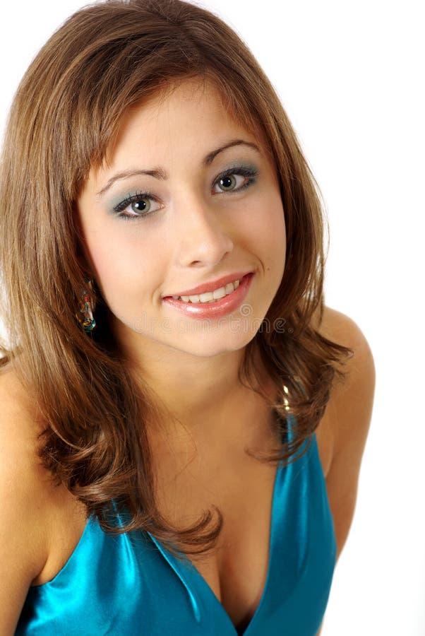 Retrato de uma mulher bonita. fotografia de stock