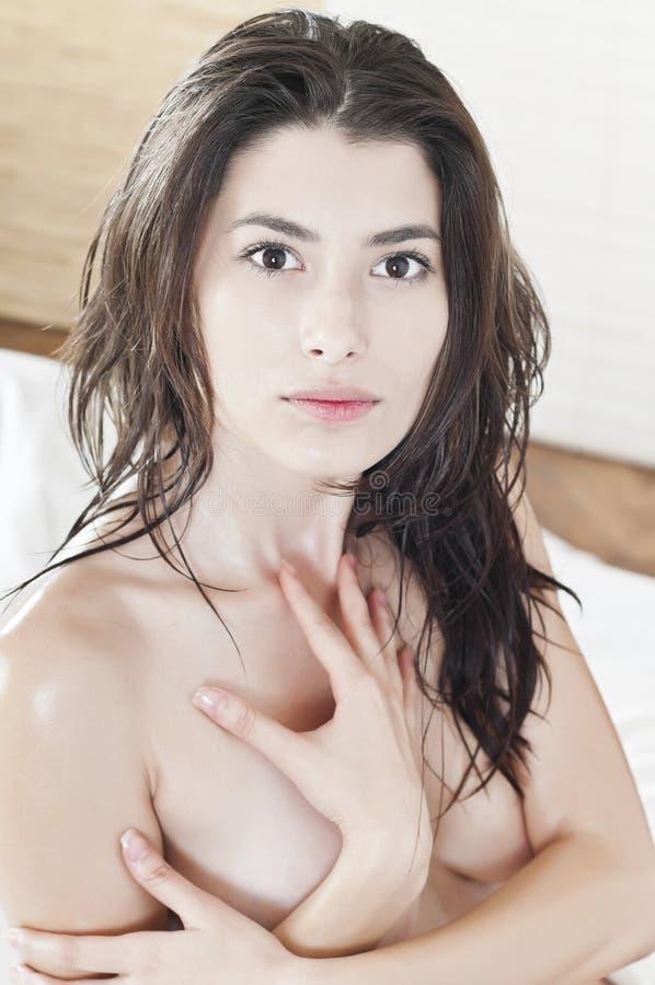 Retrato De Uma Mulher Bonita Despida Foto de Stock