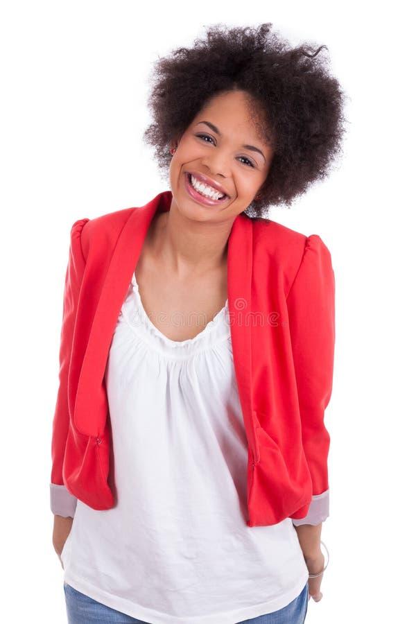 Retrato De Uma Mulher Bonita Do Americano Africano Imagens de Stock