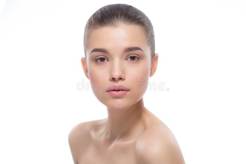 Retrato de uma mulher bonita Tratamentos dos termas imagens de stock