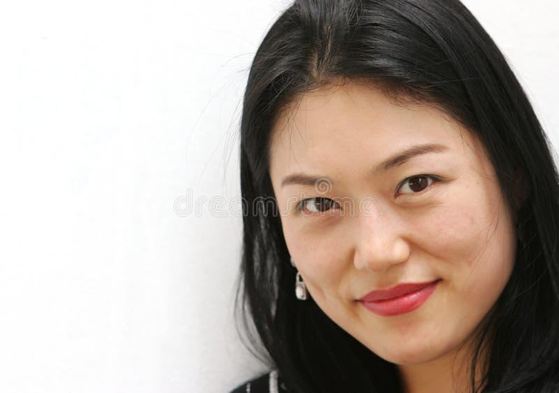 Retrato de uma mulher coreana imagem de stock royalty free