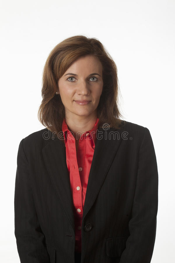 Retrato de uma mulher de negócio foto de stock royalty free