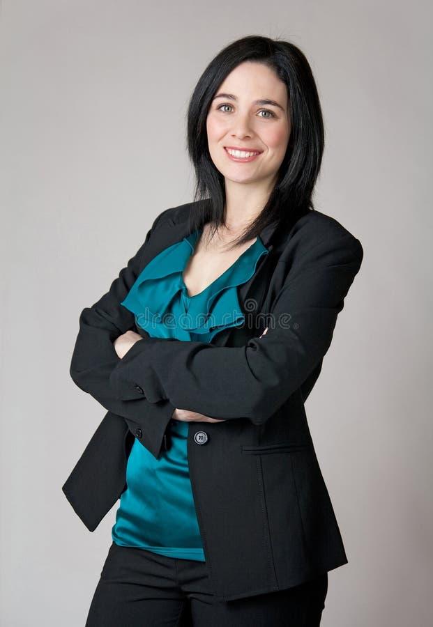 Retrato de uma mulher de negócio imagem de stock