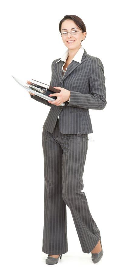 Retrato de uma mulher de negócio imagens de stock royalty free