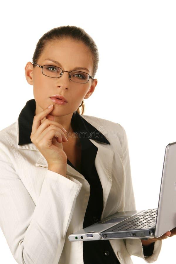 Retrato de uma mulher de negócio atrativa nova. foto de stock