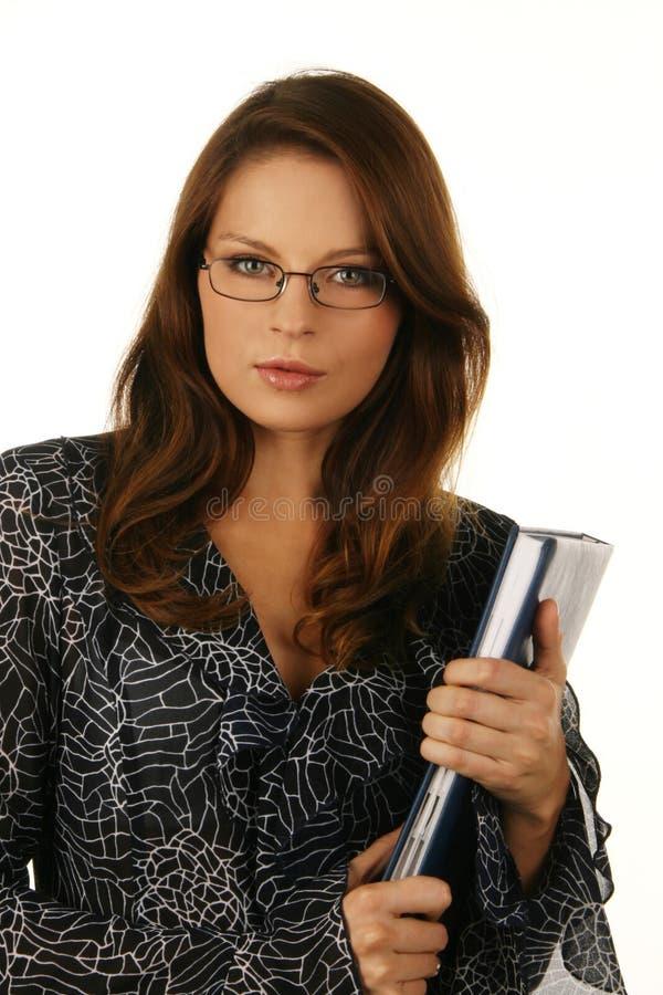 Retrato de uma mulher de negócio atrativa nova. fotos de stock royalty free