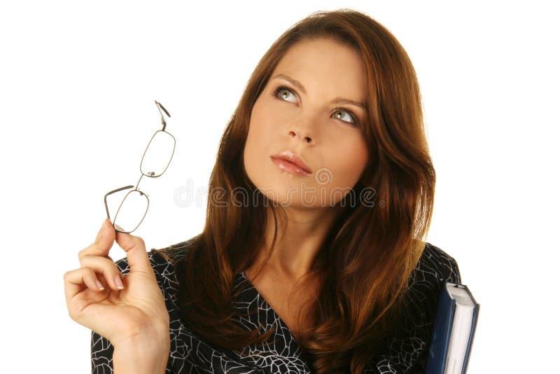 Retrato de uma mulher de negócio atrativa nova. imagens de stock royalty free