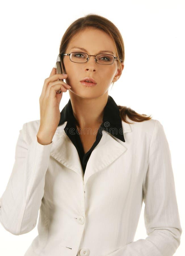 Retrato de uma mulher de negócio atrativa nova. fotografia de stock