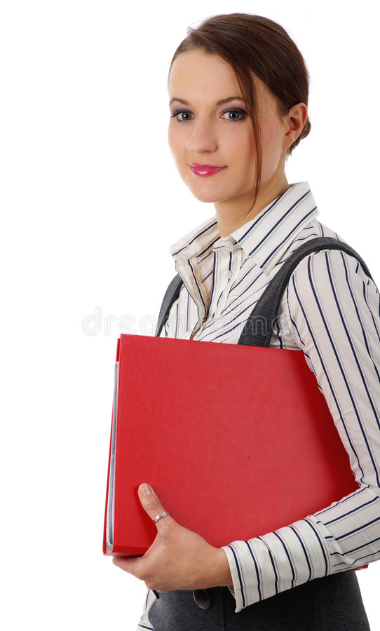 Retrato de uma mulher de negócio bonita imagem de stock royalty free