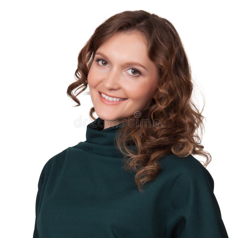 Retrato de uma mulher de negócio nova feliz imagem de stock royalty free