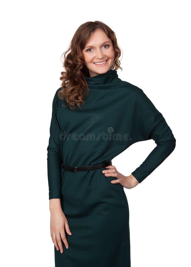 Retrato de uma mulher de negócio nova feliz imagem de stock