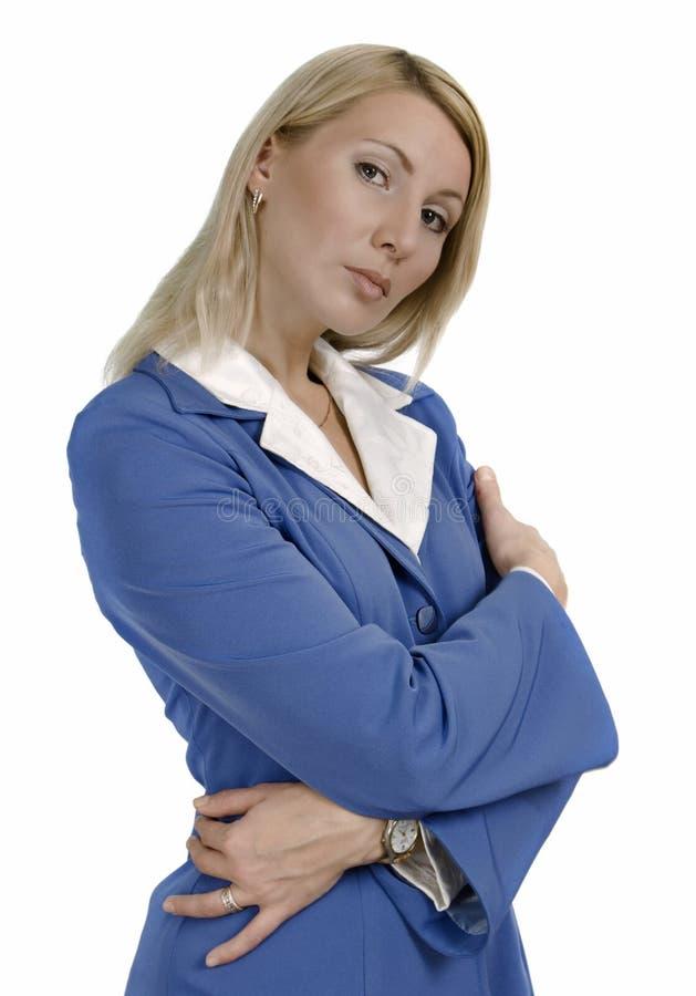 Retrato de uma mulher de negócio ttractive fotografia de stock royalty free