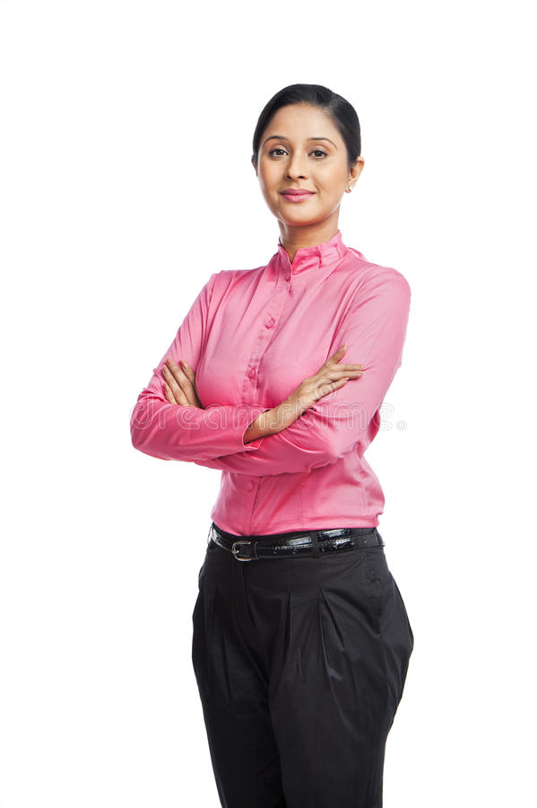 Retrato de uma mulher de negócios imagens de stock