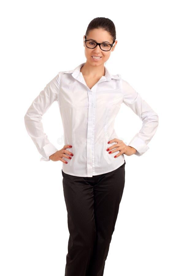 Retrato de uma mulher de negócios consideravelmente nova foto de stock