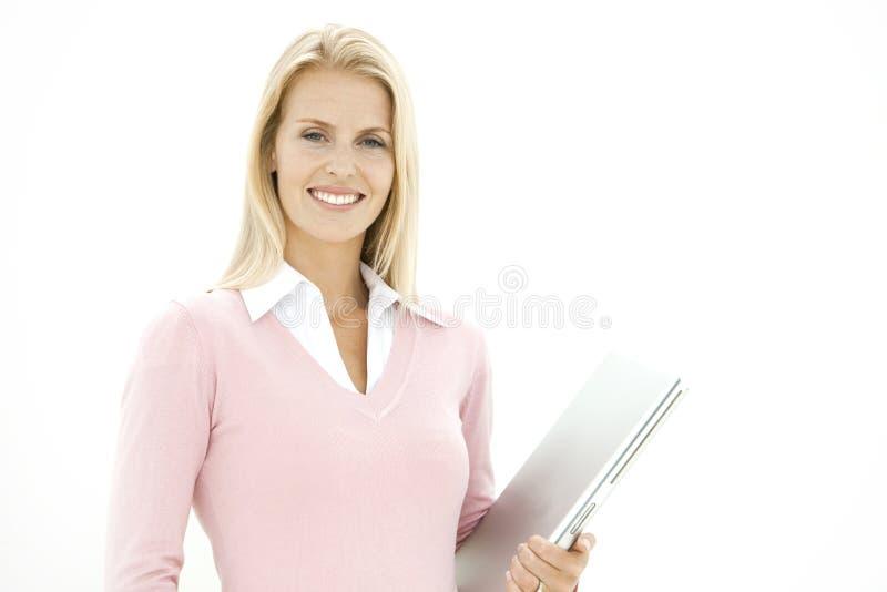 Retrato de uma mulher de negócios loura imagens de stock royalty free