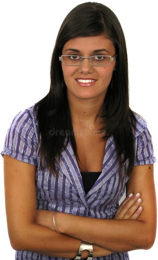 Retrato de uma mulher de negócios nova atrativa foto de stock