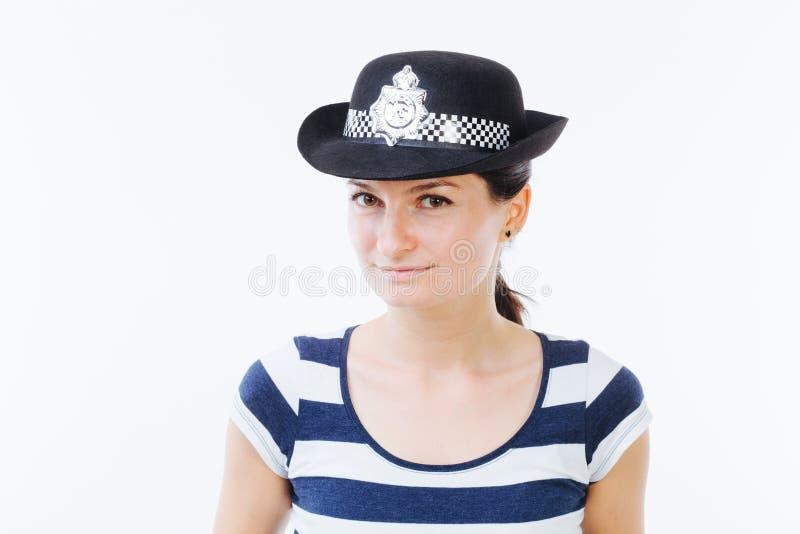 Retrato de uma mulher de sorriso fotografia de stock royalty free