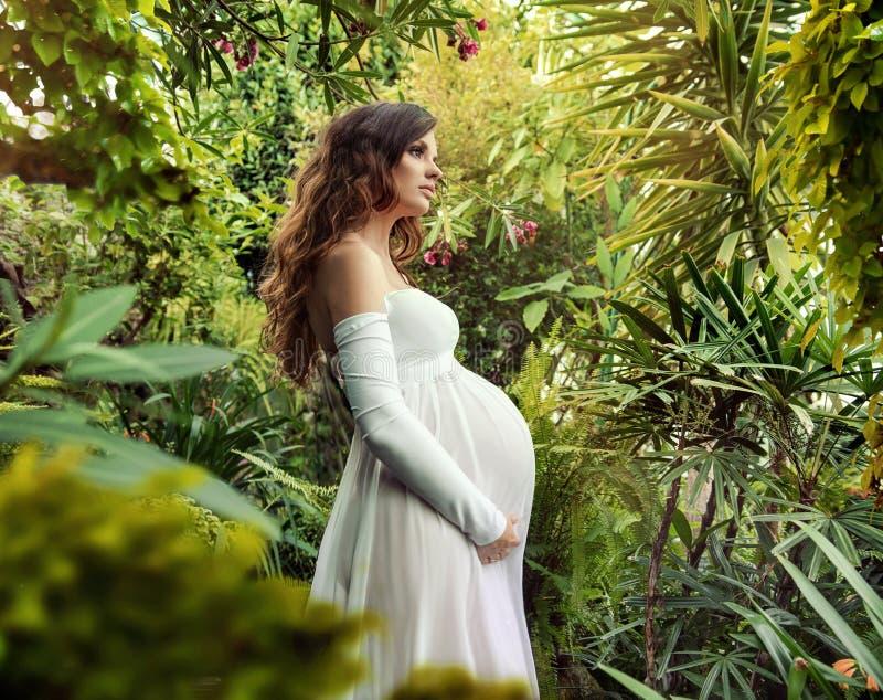 Retrato de uma mulher gravida beuatiful fotografia de stock