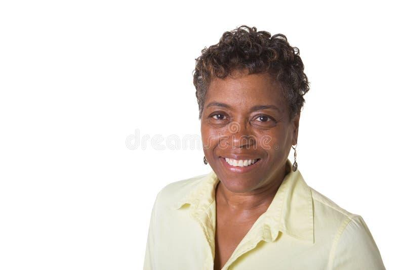 Retrato de uma mulher mais idosa foto de stock