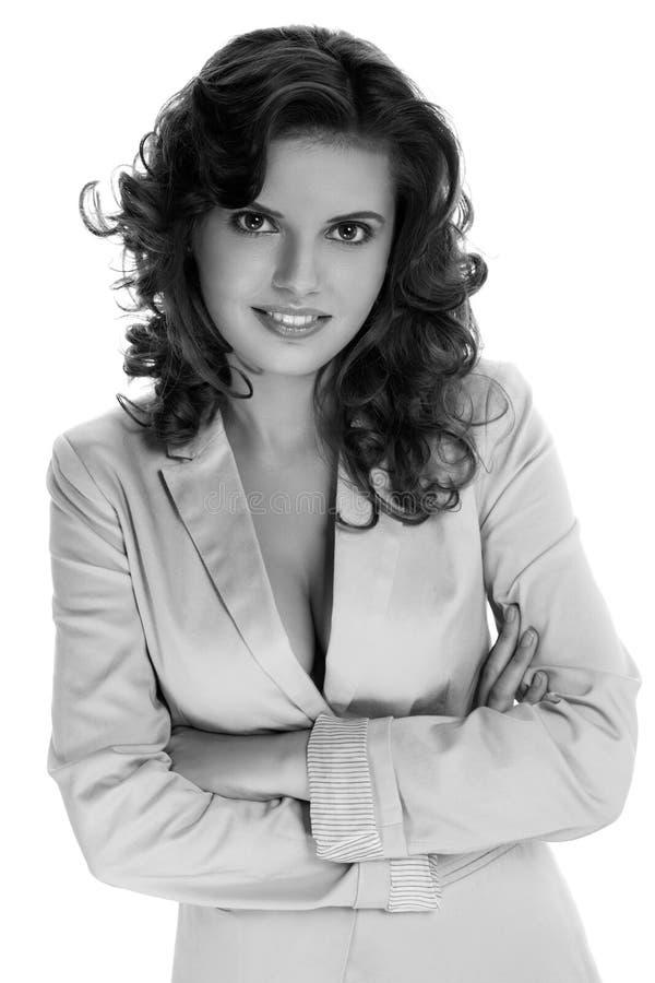 Retrato de uma mulher de neg?cio bonita foto de stock royalty free