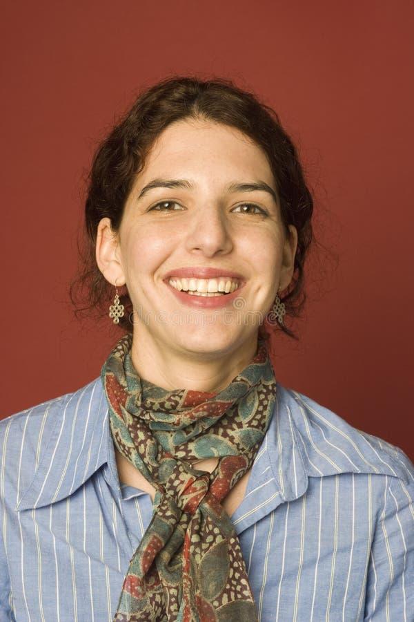 Retrato de uma mulher nova imagens de stock royalty free
