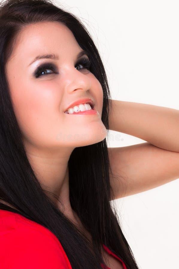 Download Retrato De Uma Mulher Nova Bonita Foto de Stock - Imagem de closeup, consideravelmente: 26513958