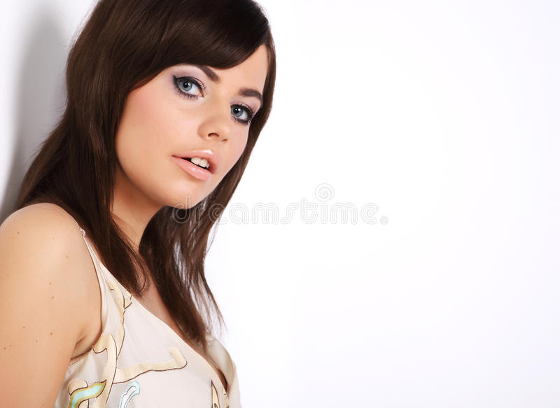 Retrato de uma mulher 'sexy' bonita foto de stock royalty free