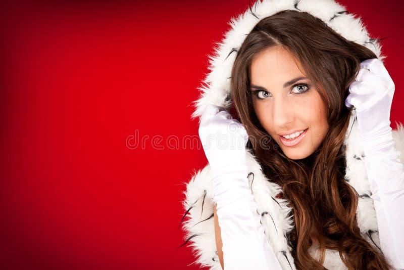 Retrato de uma mulher 'sexy' de Santa fotos de stock