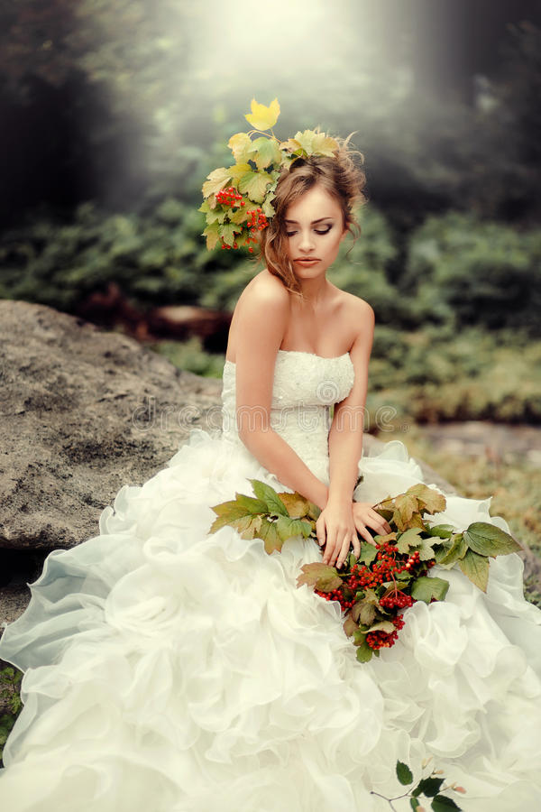 Retrato de uma noiva lindo fotos de stock royalty free