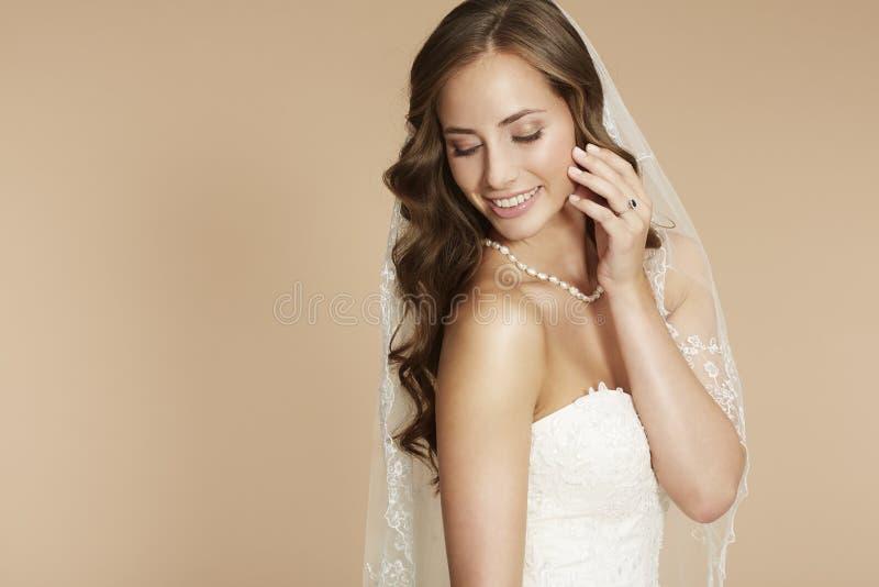 Retrato de uma noiva nova fotos de stock royalty free