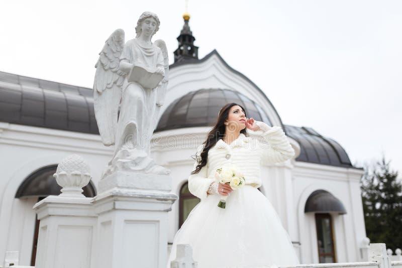 Retrato de uma noiva sensual fotografia de stock royalty free