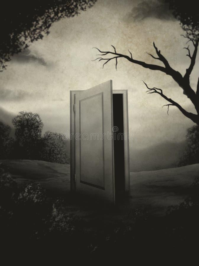 Retrato de uma porta ilustração do vetor