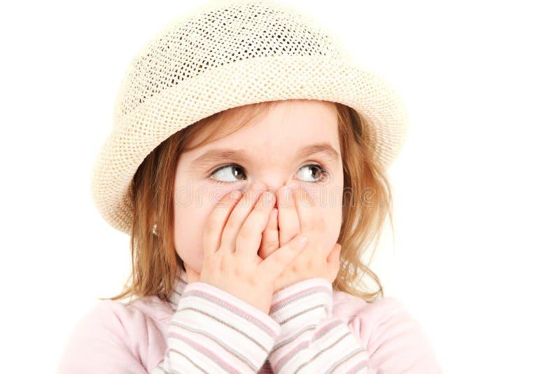 Retrato de uma princesa pequena imagem de stock