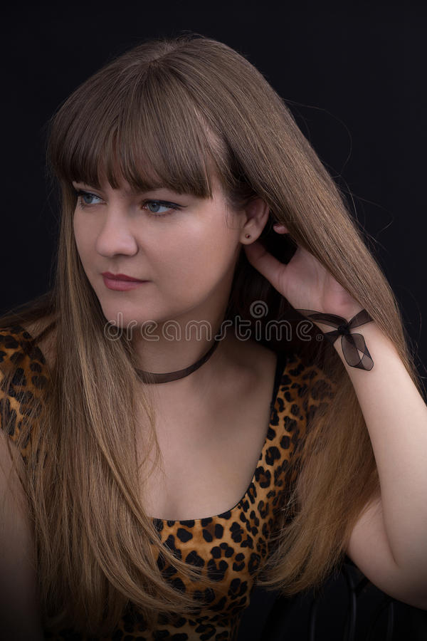 Retrato de uma rapariga bonita fotos de stock royalty free