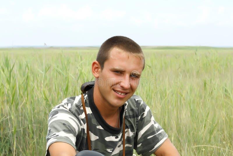 Retrato de umas forças armadas ucranianas novas fotos de stock royalty free