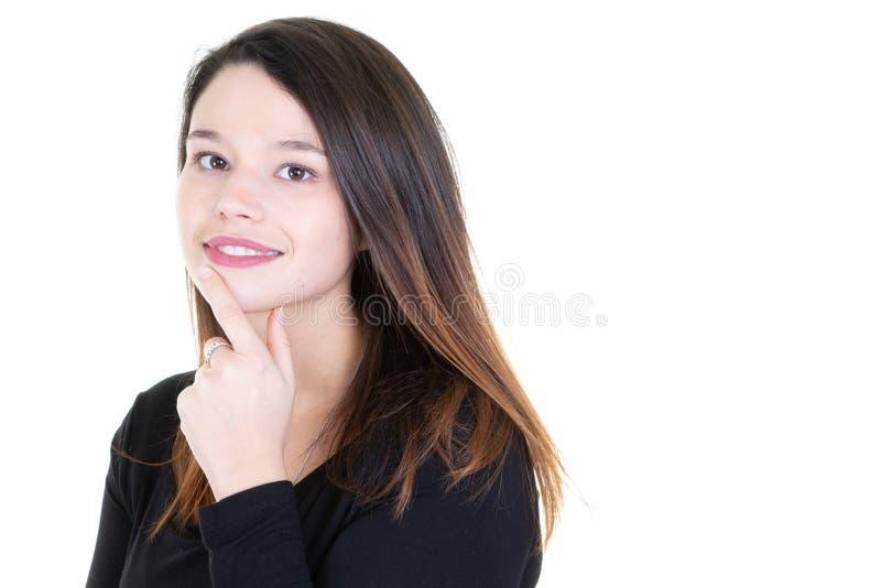 Retrato de un adolescente atractivo alegre pensativo imágenes de archivo libres de regalías